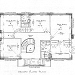 Jones Second Floor Plan Drawing Lawrence House