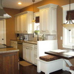Kitchen Color Ideas White Cabinets Wooden Floor Brown Wall