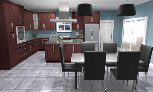 Kitchen Colors Oak Cabinets And Black Countertops