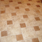 Kitchen Floor Two Different Colored Tiles Layed Pattern