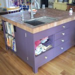 Kitchen Island Sink And Books