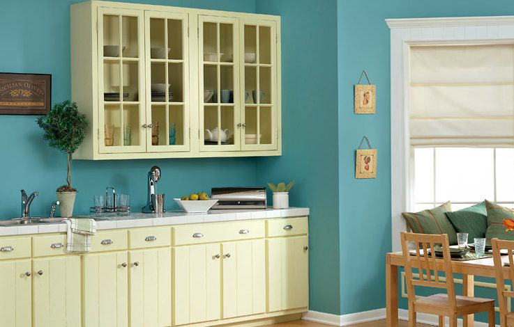 Kitchen Paint Colors Blue And Yellow