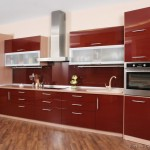 Kitchens Featuring Red Kitchen Cabinets Modern Styles Take Look