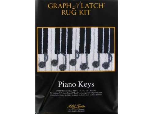 Kits Latch Hook Piano Keys Graph Rug Kit