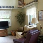 Knotty Pine Ceiling Area Vaulted Living Room