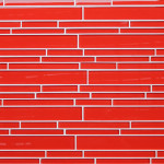 Lantern Red Strip Glass Mosaic Tiles