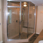 Large Glass Enclosed Shower