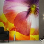 Large Multicolour Flowers Wall Mural Murals