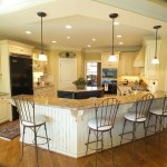 Large Open Kitchen Eat Bar And Island Traditional