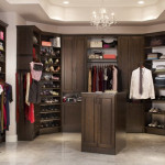 Large Walk Closet Chocolate Pear Finish Will Give You Lots