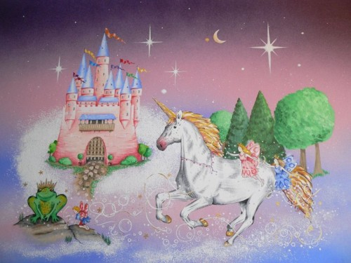 Large Wall Mural Princess Free Shipping Prepasted