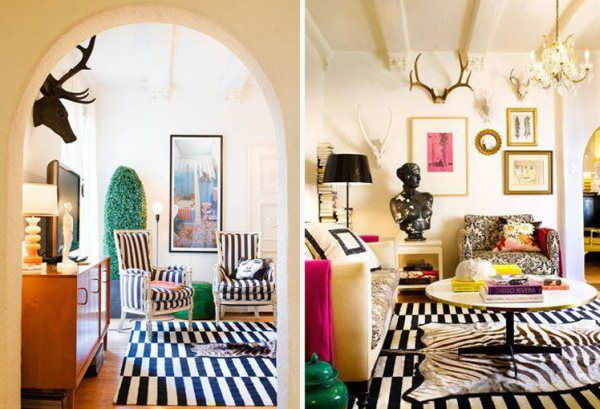 Lavish Eclectic Style Designer Rooms Flamboyant Wall Painting