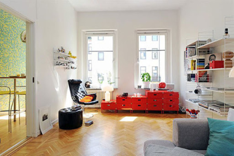 Layout Design Small Apartment Invaded Color