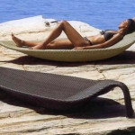 Leaf Outdoor Wicker Deluxe Sun Bed Lounge Furniture Allsorts