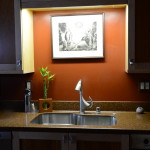 Light Fixture Over The Kitchen Sink For Additional Task Lighting