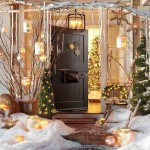 Lighted Outdoor Porch Christmas Decorations