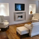 Living Room Above Fireplace Decorating Ideas Modern Picture