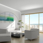 Living Room All White Decoration Beach House Gallery