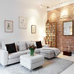 Living Room Design Brick Wall White Paint Colors And