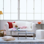 Living Room Design Stylish Pink Couches