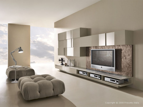 Living Room Designs Presotto Italia Modern Beige Themed