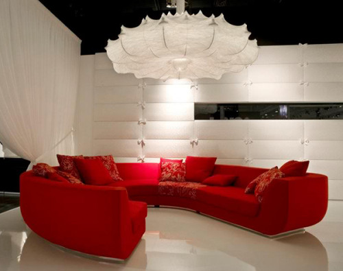 Living Room Interior Decoration Ideas Red Sofas Excotic