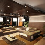 Living Room Wooden Ceilings And Combination Sofa