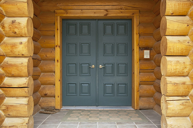 Log Home Front Door Detail Flickr Sharing