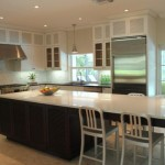 Long Clean Kitchen Island And Table Five Seats