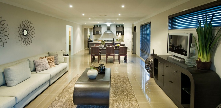 Long Combined Kitchen Dining Room House Design Ideas