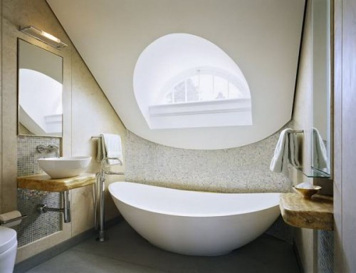 Luxury Small Bathroom Place Bathtub Tiny Size Interior