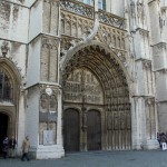 Main Entrance Doors Cathedral Our Lady Antwerpen Graphed