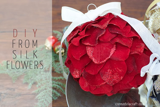 Make Holiday Christmas Crafts Ornament Ornaments Flowers Unique Clever