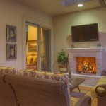 Make The Fireplace Center Attention Full Stone Brick