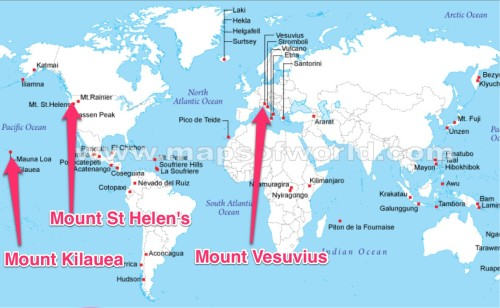Map The World Including Volcanoes Naturalhazardsvolcano