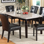 Marion Marble Top Espresso Wood Dining Table Set Ebay