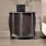 Materia Italian Designer Shaped Lacquered Wood Bedside Table