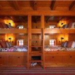 Mediterranean Bunk Beds Central Ladder And Four Storage Drawers