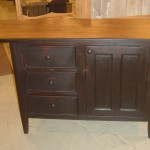 Medium Kitchen Island Two Way Drawers Special Bead Fronts Black Over