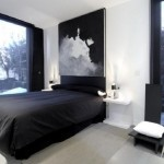 Mens Bedroom Decorating Ideas Black Bedding Sheets And Wall