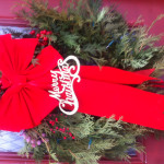Merry Christmas Glitter Sign Wreath Ideas