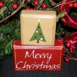 Merry Christmas Tree Wooden Letter Blocks Ideas
