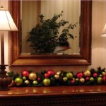 Mirror Table Lamps And Christmas Balls Home Decorating For