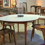 Mix Vintage Mid Century Dining Table White Top