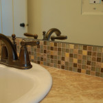 Mixture Ceramic Used For The Sink And Tub Surround All