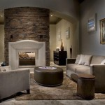 Modena Modern Stone Fireplace Mantel Francois Eclectic Bedroom