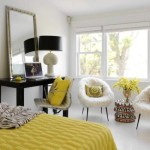 Modern And Calm Bedroom Design For Couple Yellow Color