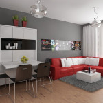 Modern Apartment Design Red Interior Ideas From Studio
