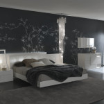 Modern Bedroom Design And Black Wall Art From Evinco Stylist