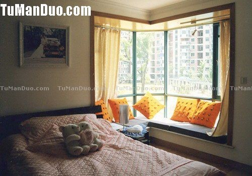 Modern China Style Bedroom Bay Window Decor